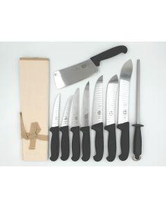 Victorinox 10 Piece Pro Butchers Knife Set - Black