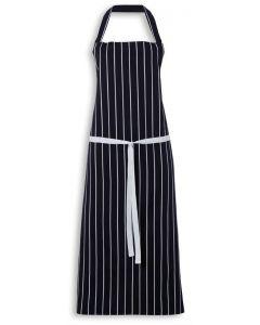 Cotton Butchers Apron - Striped Blue