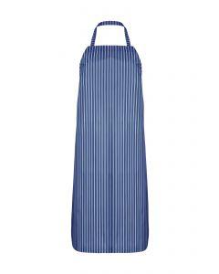 Nylon Twin Striped Bib Apron - Blue/White