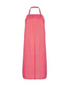 Nylon Twin Striped Bib Apron - Red/White
