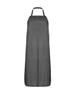 Nylon Twin Striped Bib Apron - Black/White