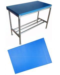 """1"""" Blue Polytop & Polytop Tables 3ft x 2ft"""