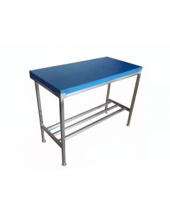 """1"""" Poly Top with Stainless Steel Stand 6x2 ft - Blue"""