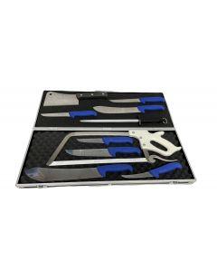 F Dick 11 Piece Deluxe Butchers Knife Set In Case - Blue