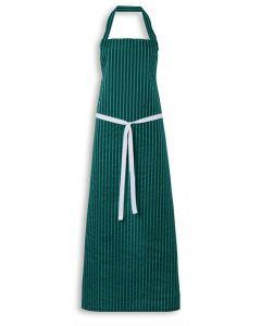 Nylon Twin Striped Bib Apron - Green