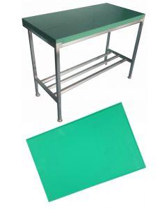 """1"""" Green Polytop & Polytop Tables 5ft x 2ft"""