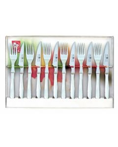 Icel Steak Knife & Fork Set - Stainless Steel
