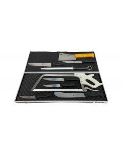 Icel 10 Piece Deluxe Butchers Knife Set - Black