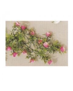 Pink Rose Display Garland