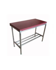 """Clearance 4"""" Poly Top Cutting Table 2x2 ft - Dark Red"""