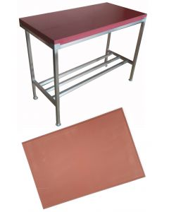 """4"""" Red Polytop & Polytop Tables 5ft x 2ft"""