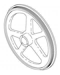 Omega - SM280 Top Pulley with bearings