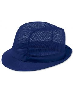 Blue Butchers Trilby Hat