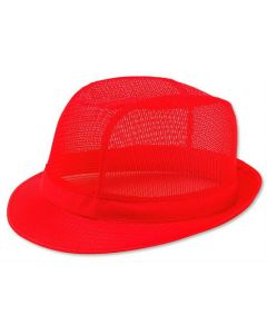 Red Butchers Trilby Hat