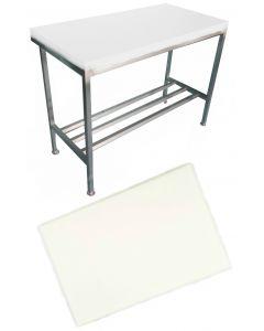 "1"" White Polytop & Polytop Tables 5ft x 2ft"