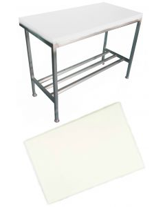 "1"" White Polytop & Polytop Tables 6ft x 2ft"