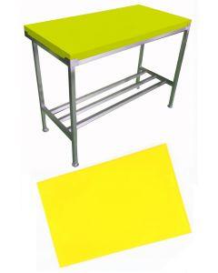 """1"""" Yellow Polytop & Polytop Tables 6ft x 2ft"""