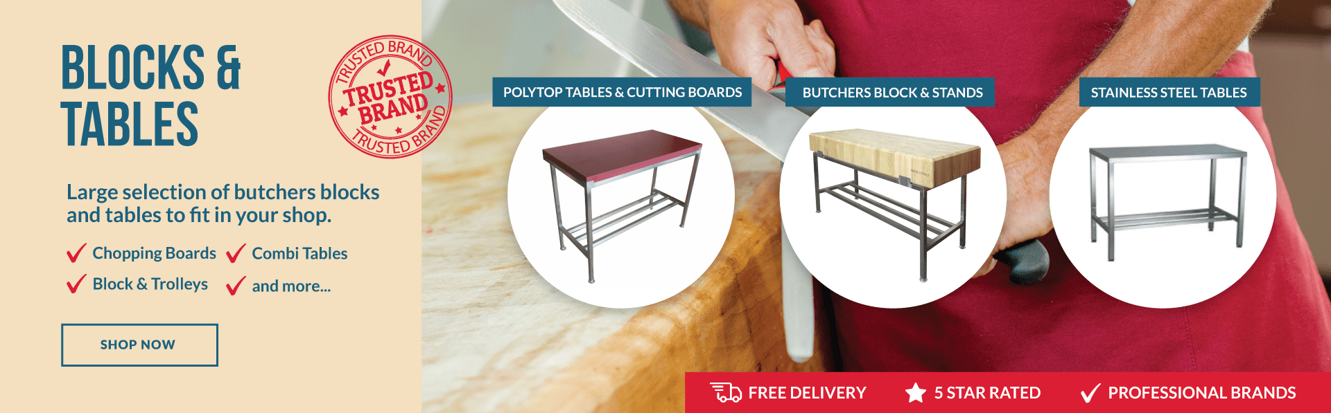 Butchers Blocks & Tables